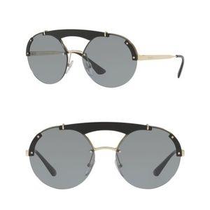 NEW Prada 37mm Round Aviator Sunglasses